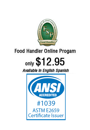 food handler online ansi astm accredited course california illinois